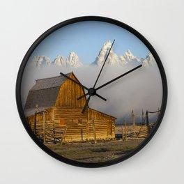Revelations: Barn and Tetons Wall Clock