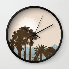 Summer Palm Trees II Wall Clock