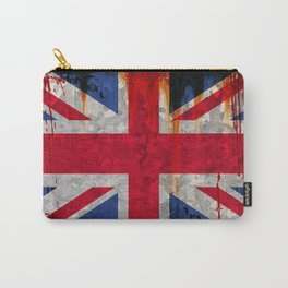 Paint splattered Union flag Carry-All Pouch
