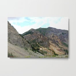 First View of the Eureka Mine, Coming Up the Animas River Metal Print