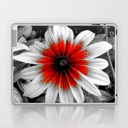 Flower | Flowers | Red Stroke Gaillardia | Red and White Flower | Nadia Bonello Laptop & iPad Skin