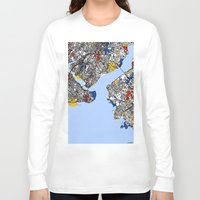 mondrian Long Sleeve T-shirts featuring Istanbul mondrian by Mondrian Maps
