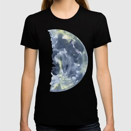 First Quarter Moon Watercolor T-shirt