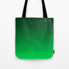 Happy Bright Apple Green Ombre Tote Bag