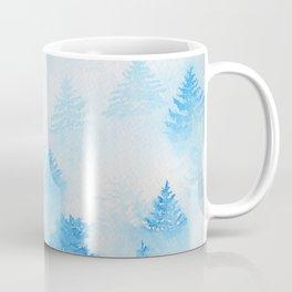 Sky Blue Misty Mountain | Watercolor Landscape Coffee Mug