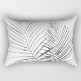 Black and White Palm Fronds Rectangular Pillow