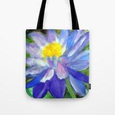 Blue Violet Lotus flower Tote Bag