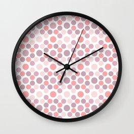 Blushing Dots Wall Clock