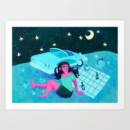 Midnight Picnic Art Print