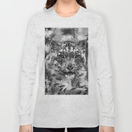 AnimalArtBW_Leopard_20170601_by_JAMColorsSpecial Long Sleeve T-shirt