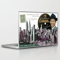 frank sinatra Laptop & iPad Skins featuring Frank Sinatra - New York by Dots Studio