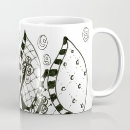 Pop of Color, Red Balloon Zendoodle in Fanciful Forest Coffee Mug