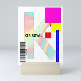 "Cocktail ""K"" - Kir Royal Mini Art Print"