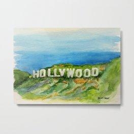 Hollywood Sign - An American Cultural Icon Metal Print