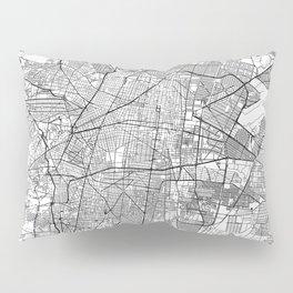 Mexico City White Map Pillow Sham