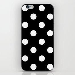 Polkadot (White & Black Pattern) iPhone Skin