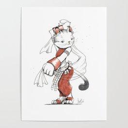 Dancer American Curl Cat Poster