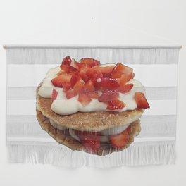 pancakes_strawberries_and_whip_cream Wall Hanging