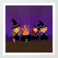 Witchy Women Art Print