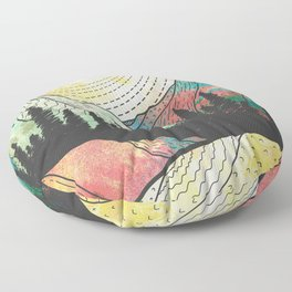 The Rocky mountains Floor Pillow