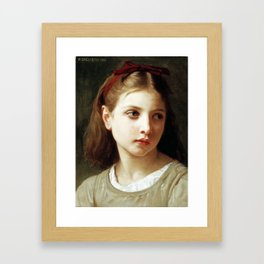 A Little Girl by William-Adolphe Bouguereau Framed Art Print