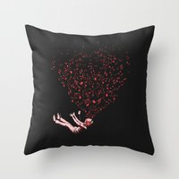 imagine Throw Pillows featuring Imagine by carbine