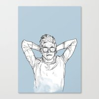 niall Canvas Prints featuring Niall Horan by Cécile Pellerin