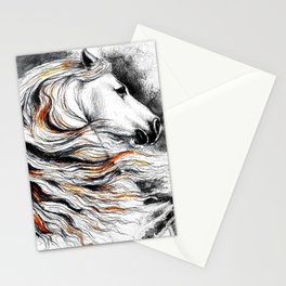 Dark Beauty Horse Stationery Cards