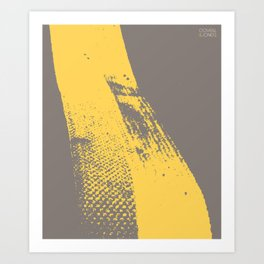 Stripe (Yellow) by Matthew Korbel-Bowers for Covell & Company Art Print