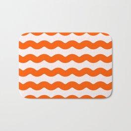 Winter 2018 Color: Unapologetic Orange on Pink Waves Bath Mat