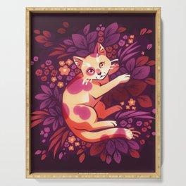 Purple Foliage Kitty Serving Tray
