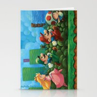 mario bros Stationery Cards featuring Super Mario Bros 2 by Josh J Dunbar