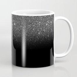 Black & Silver Glitter Ombre Coffee Mug