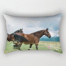 Horses in Tatras Rectangular Pillow