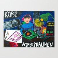 kobe Canvas Prints featuring KOBE analogue radio station by Falafel Pool