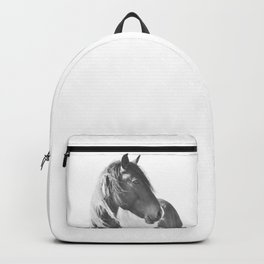 Stallion in black and white Backpack
