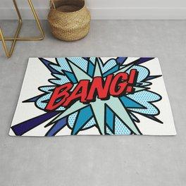 BANG Comic Book Flash Pop Art Cool Typography Rug