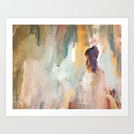 Gentle Beauty - an elegant acrylic piece in deep purple, red, gold, and white Kunstdrucke