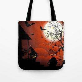Halloween on Bloody Moonlight Nightmare Tote Bag