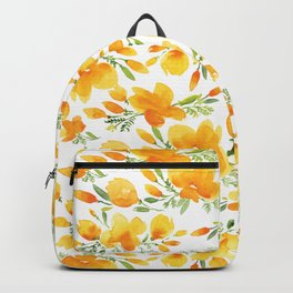 California Poppy Floral Backpack