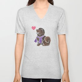 Watercolour Chow Chow Unisex V-Neck