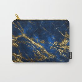 Exquisite Blue Marble With Luxury Gold Veins Carry-All Pouch