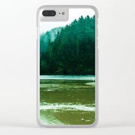 Foggy Beach in Oregon Clear iPhone Case