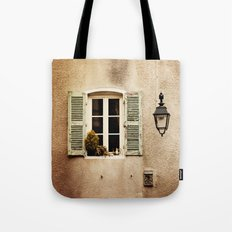 Window with Shutters and Teapot Tote Bag