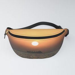 Heart in Sunset 1 Fanny Pack