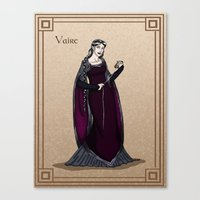 valar morghulis Canvas Prints featuring Vaire by wolfanita