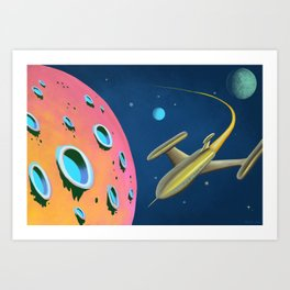 Fantastic Adventures in Outer Space Art Print