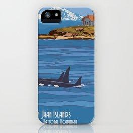 Vintage poster - San Juan Islands iPhone Case