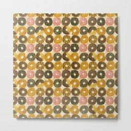 Donuts pattern Metal Print