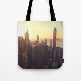 hong kong sundown Tote Bag